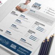 Creative Resume CV PSD Template