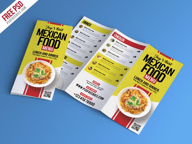 food restaurant menu brochure psd psdfreebies com