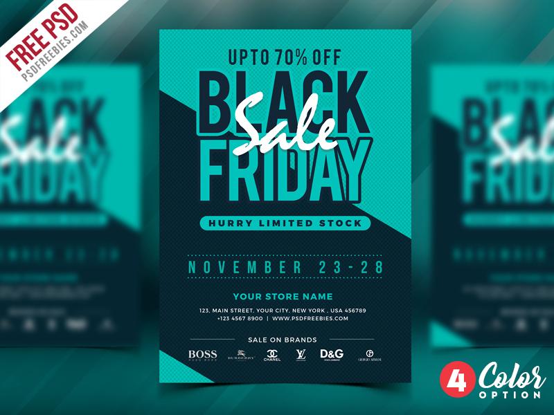 Free Black Friday Sale Flyer PSD