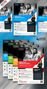 Free Corporate Flyer PSD Template Bundle