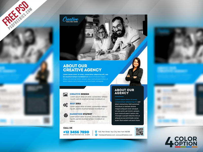 free corporate flyer psd template bundle psdfreebies com