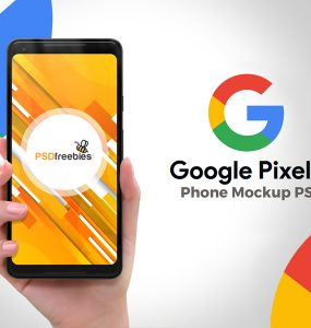 Google Pixel 2 Phone PSD Mockup