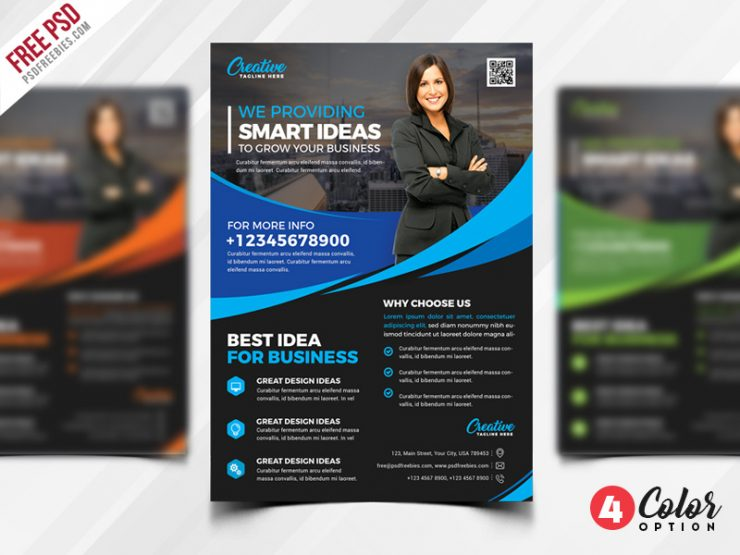 Free Multipurpose Flyer PSD Template Set