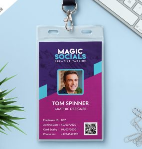 Office Identity Card Free PSD