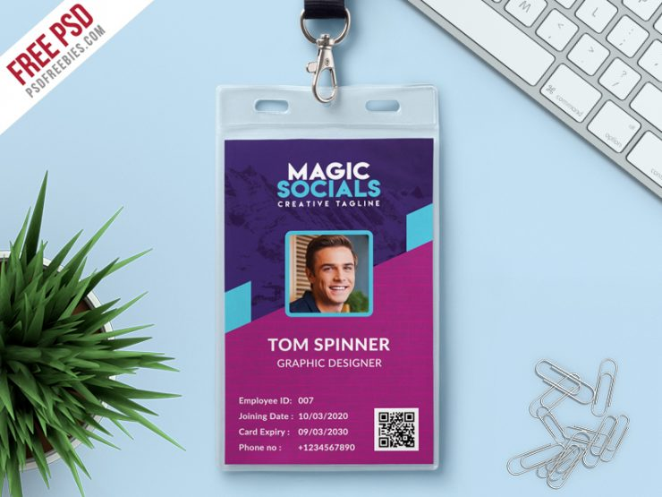 Office Identity Card Free PSD