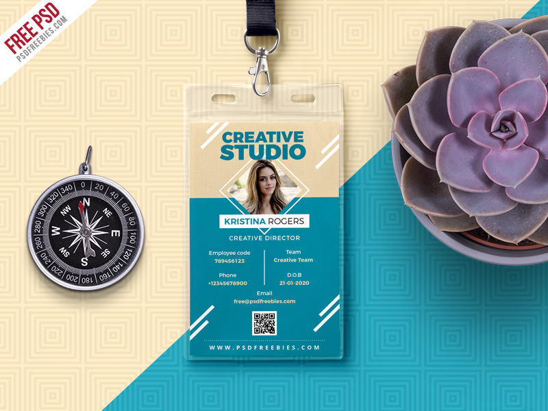 Office Photo Identity Card Free PSD