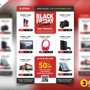 Black Friday Sale Flyer PSD Bundle