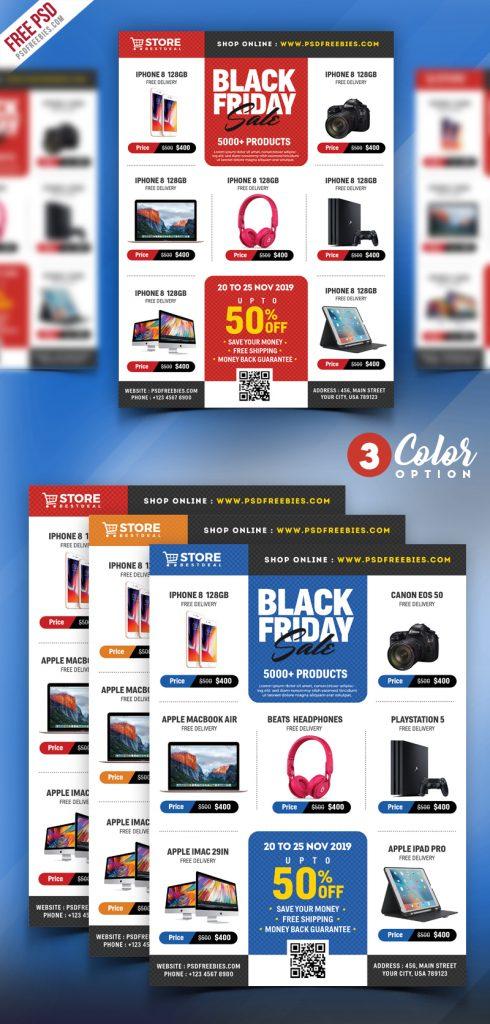 Black Friday Sale Flyer PSD Bundle