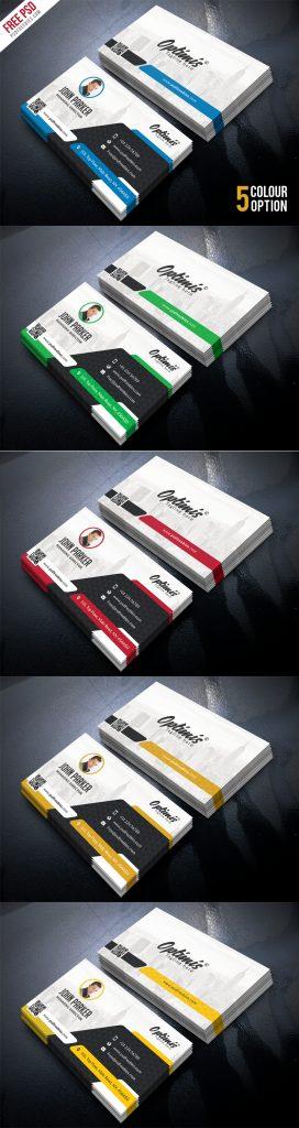 Creative Business Card Free PSD Bundle