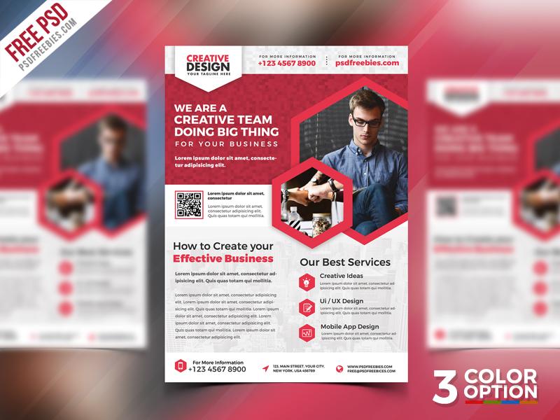 free business promotional flyer psd bundle psdfreebies com