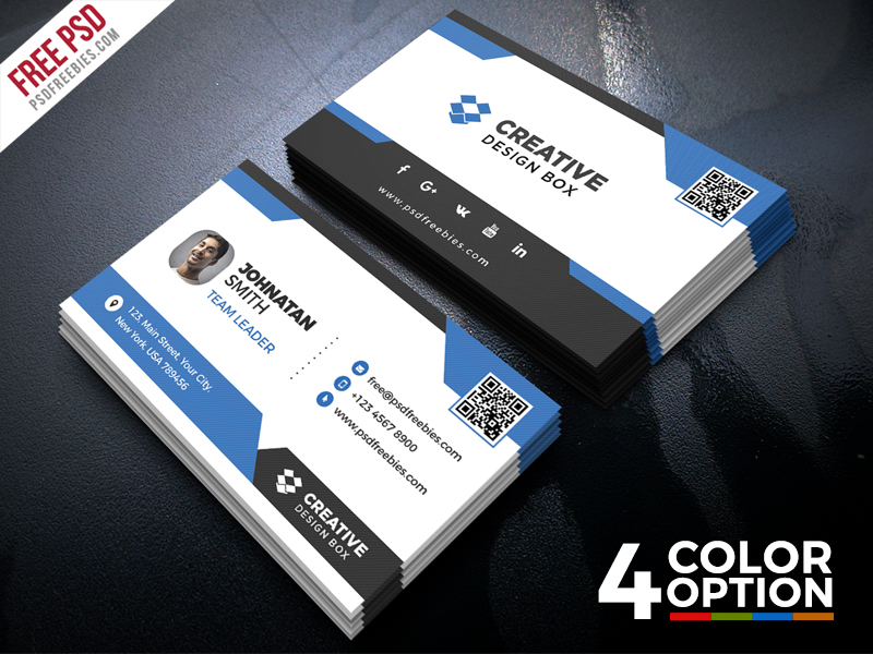 Free Creative Business Card PSD Bundle