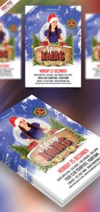 Merry Christmas Party Flyer Free PSD
