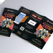 Mobile App Promotion Tri-Fold Brochure PSD