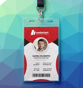 Office Photo Identity Card PSD