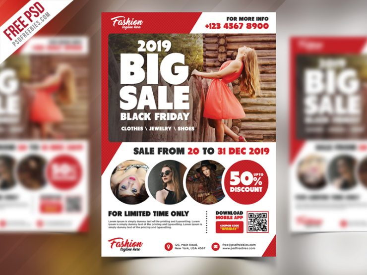 Sale Promotional Free Flyer PSD