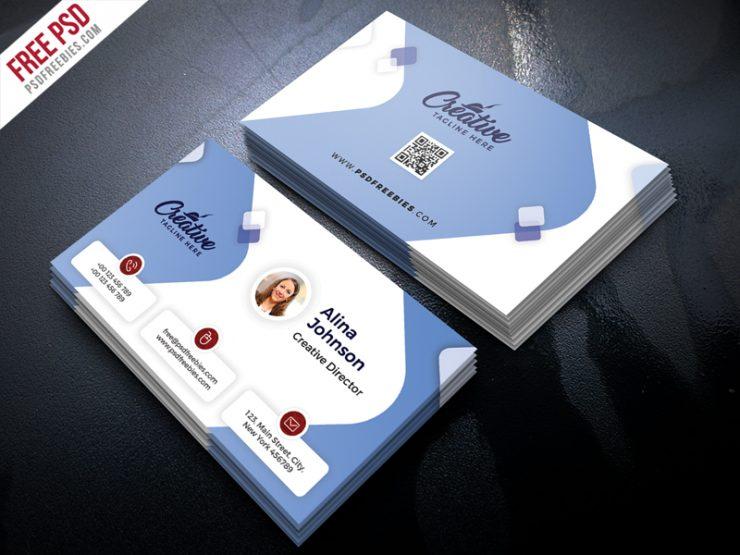 Clean Business Card Design Free PSD