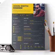 Clean Resume Design Free PSD