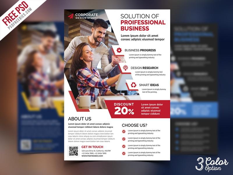 Corporate Ad Flyer PSD Template Set