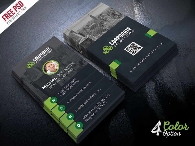 corporate business card template psd bundle psdfreebies com