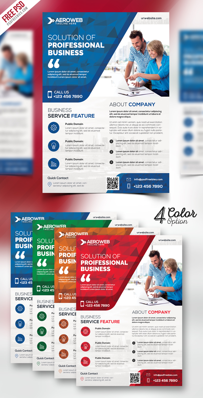 Corporate Flyers Free PSD Bundle