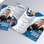 Corporate Tri-fold Brochure Free PSD