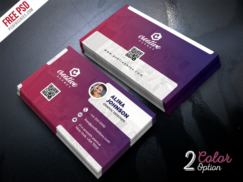 creative business card template psd set