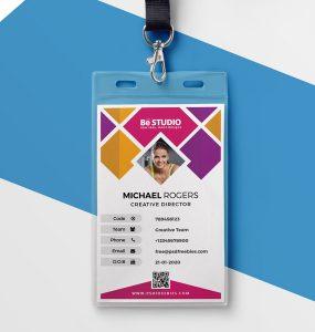 Creative Office Identity Card PSD