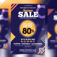 Holiday Season Sale Flyer Free PSD