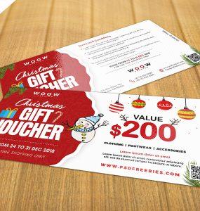 Holiday season Sale Gift Voucher PSD