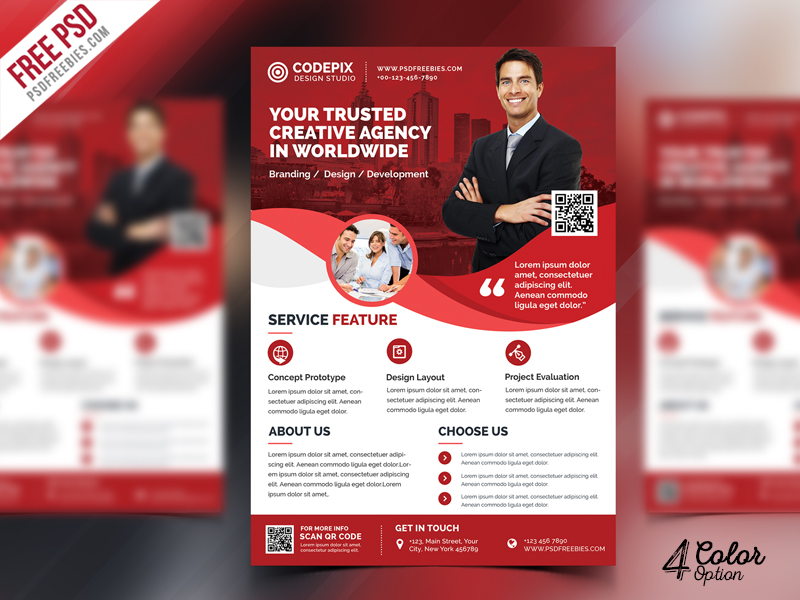 modern corporate flyer psd bundle psdfreebies com