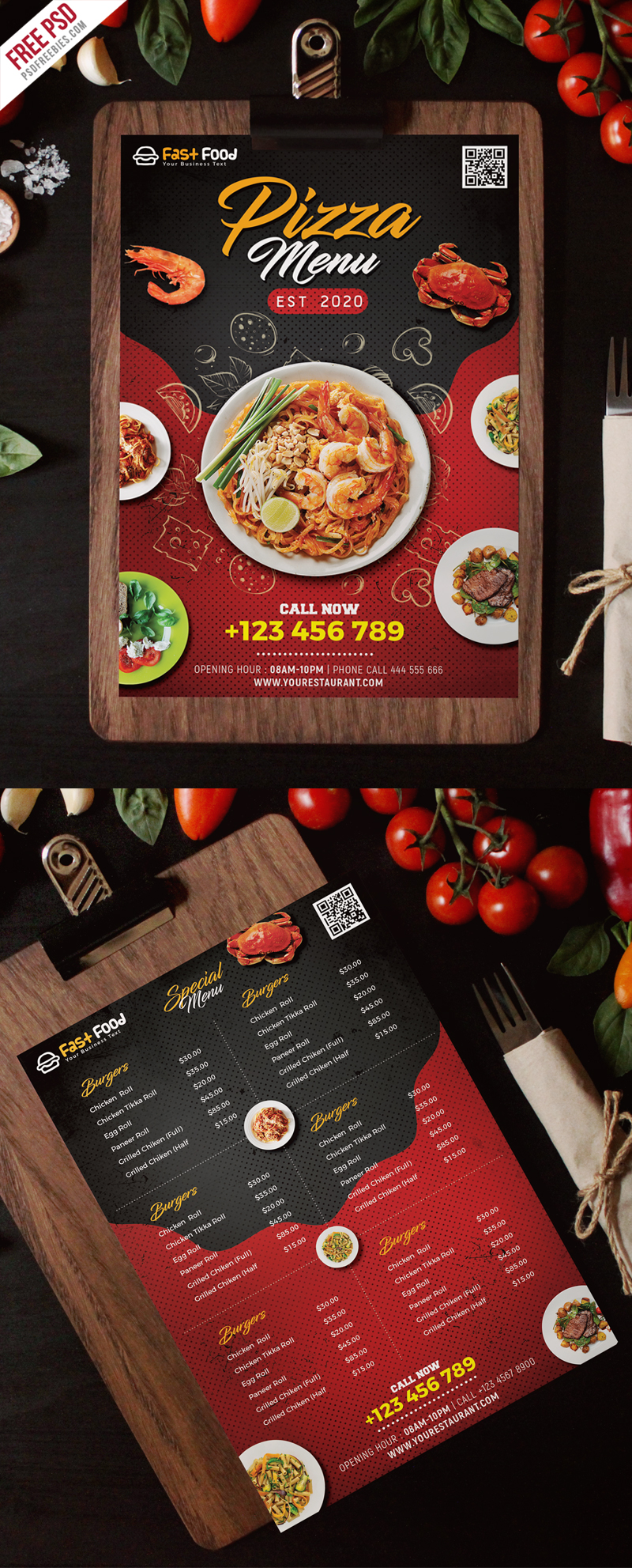 Restaurant Food Menu Free PSD