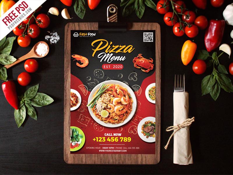 Restaurant Food Menu Free PSD
