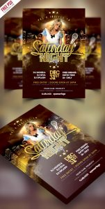 Saturday Party Flyer Free PSD