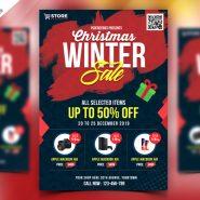 Winter Sale Flyer PSD Template