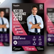 Business Event Seminar Flyer PSD