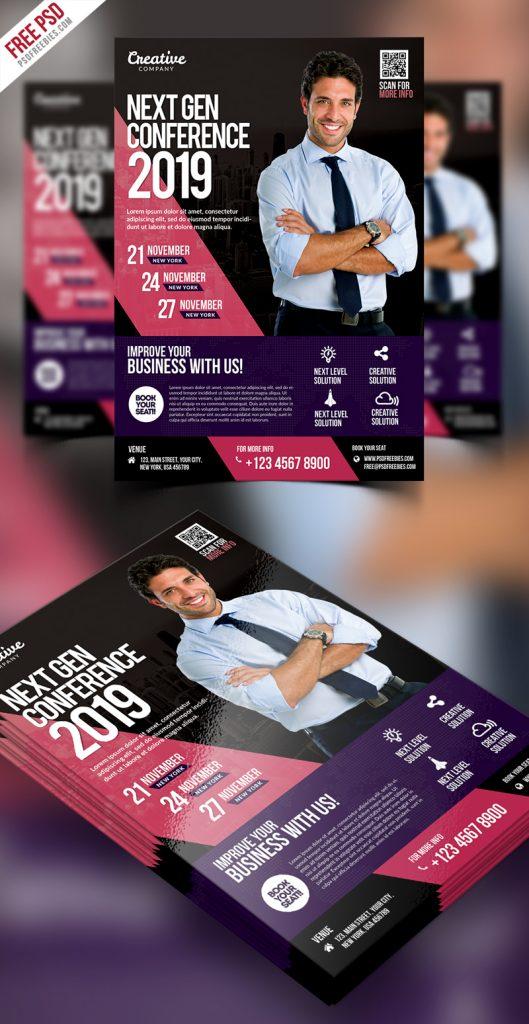 Business Event Seminar Flyer PSD