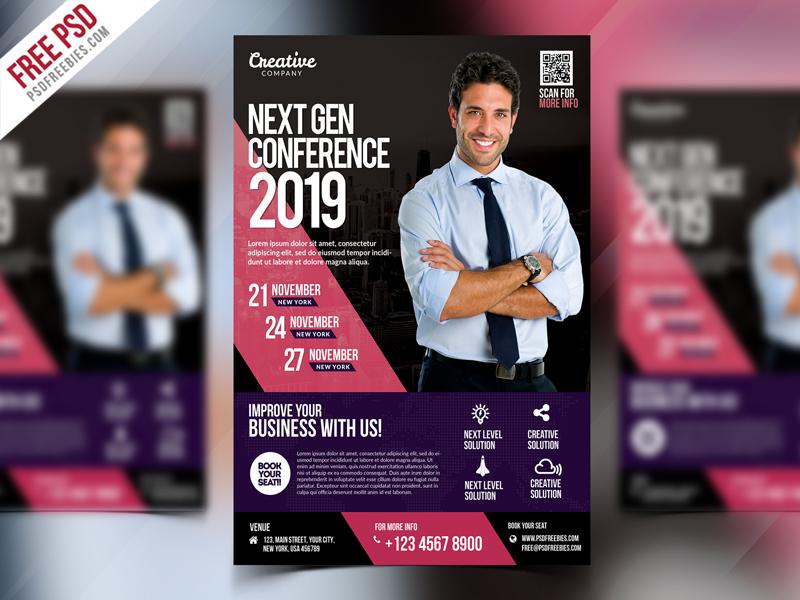 Business Event Seminar Flyer Psd Psdfreebies Com