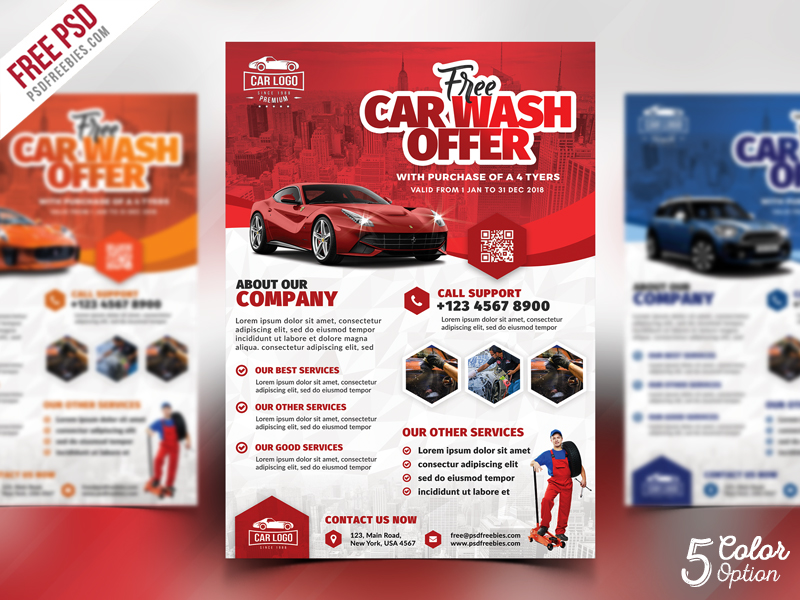 Car Detailing Flyer Template from psdfreebies.com