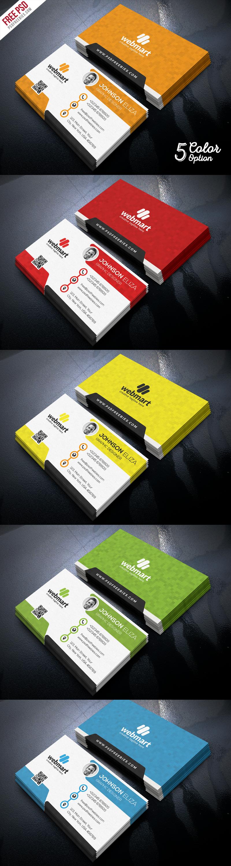 Creative Business Card Set PSD Freebie