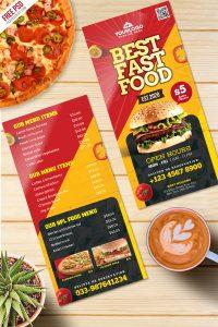 Fast Food Menu Card Free PSD