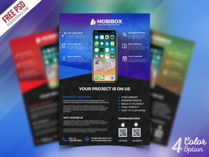 Mobile App Promotion Flyer PSD Bundle