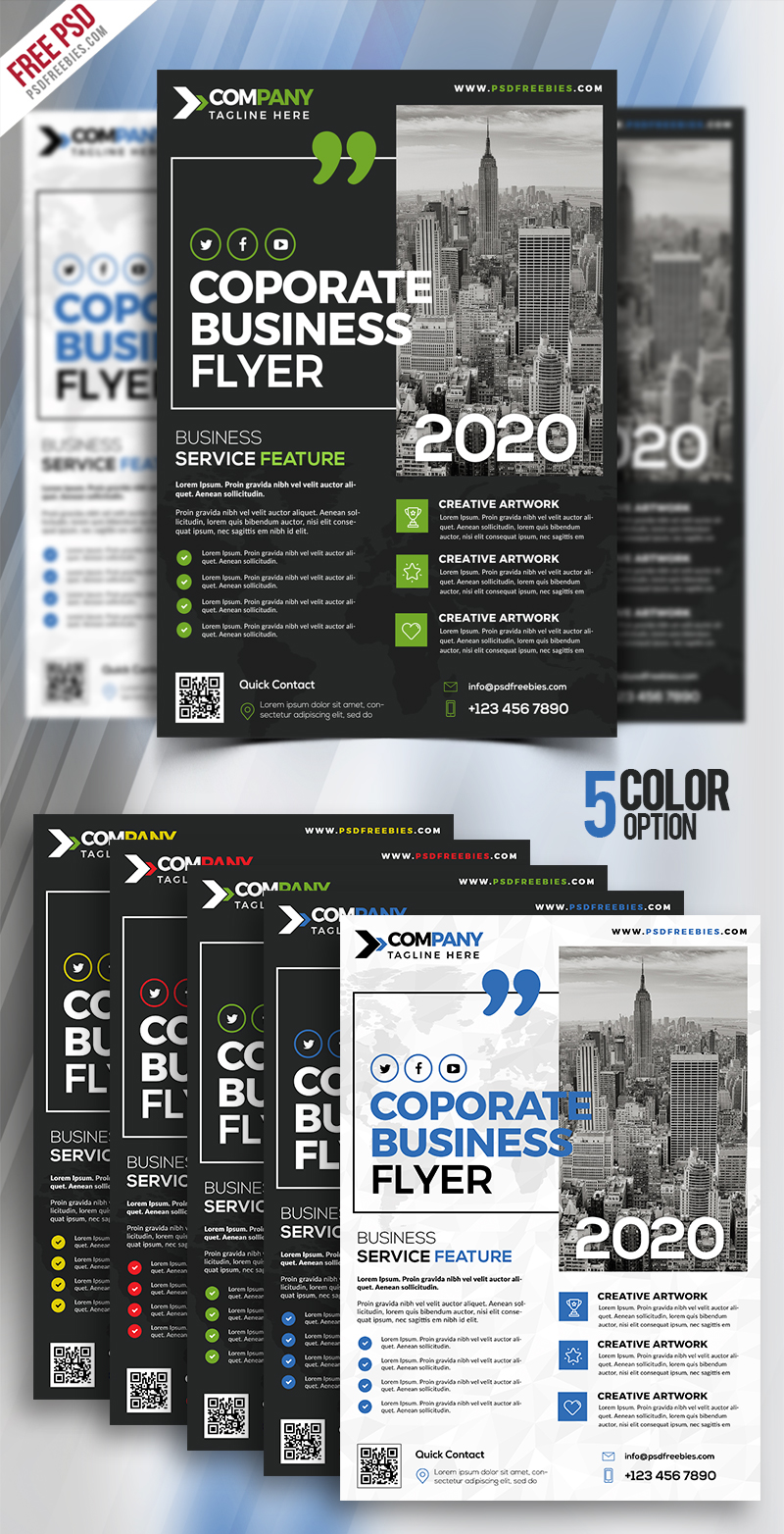 Multipurpose Corporate Flyer PSD Bundle