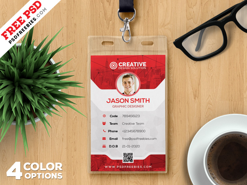 Office Ideny Card Template Psd Set