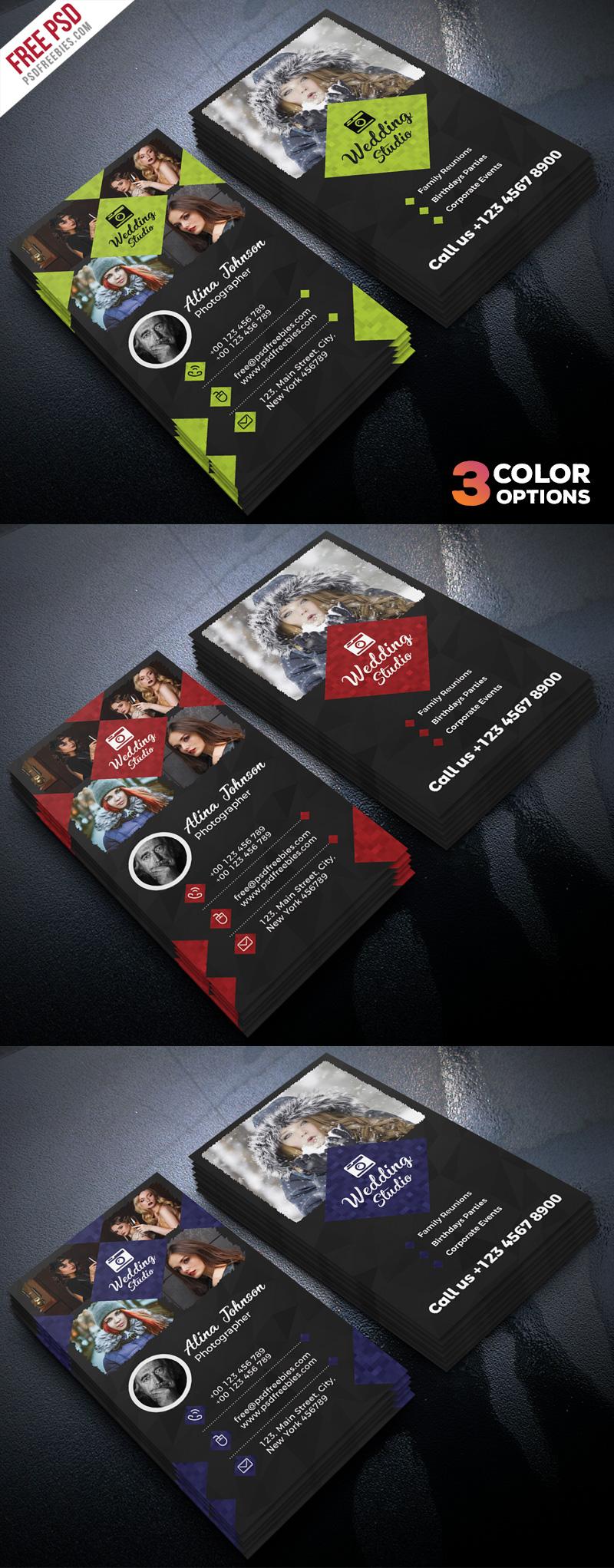 Photographer Business Card Template PSD Set