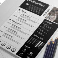 Premium Resume Template Free PSD