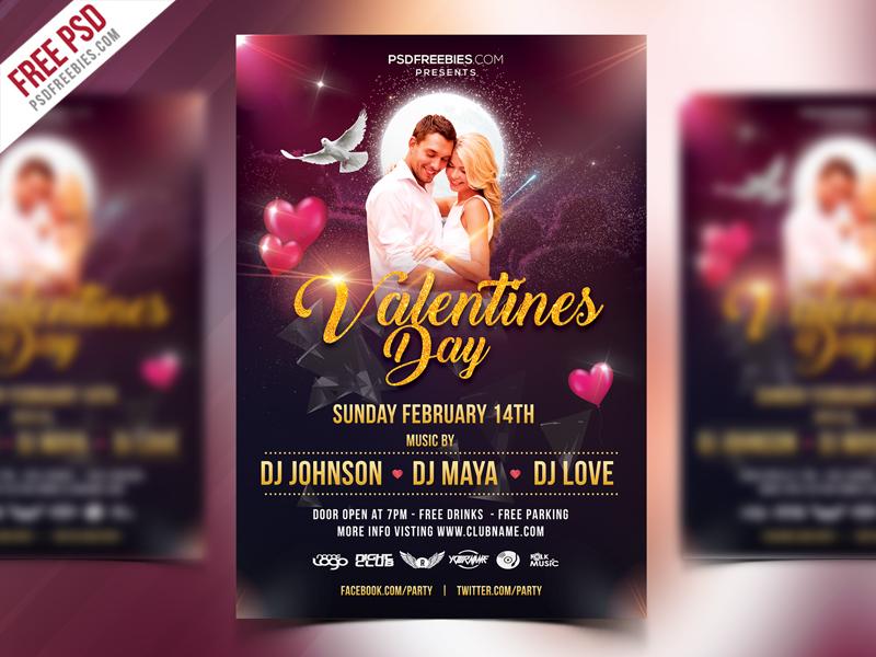 Valentines Day Flyer Design Free Psd Psdfreebies Com