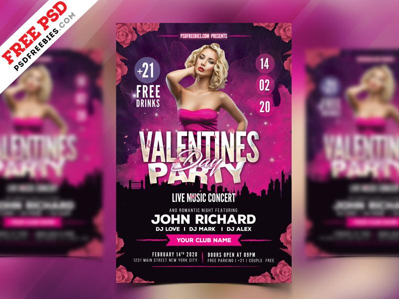 Valentines-Day-Party-Flyer-PSD-Freebie