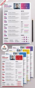 Creative Resume Template PSD Set