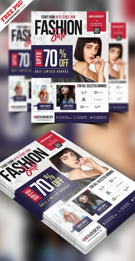Exclusive Sale Flyer Design Free PSD