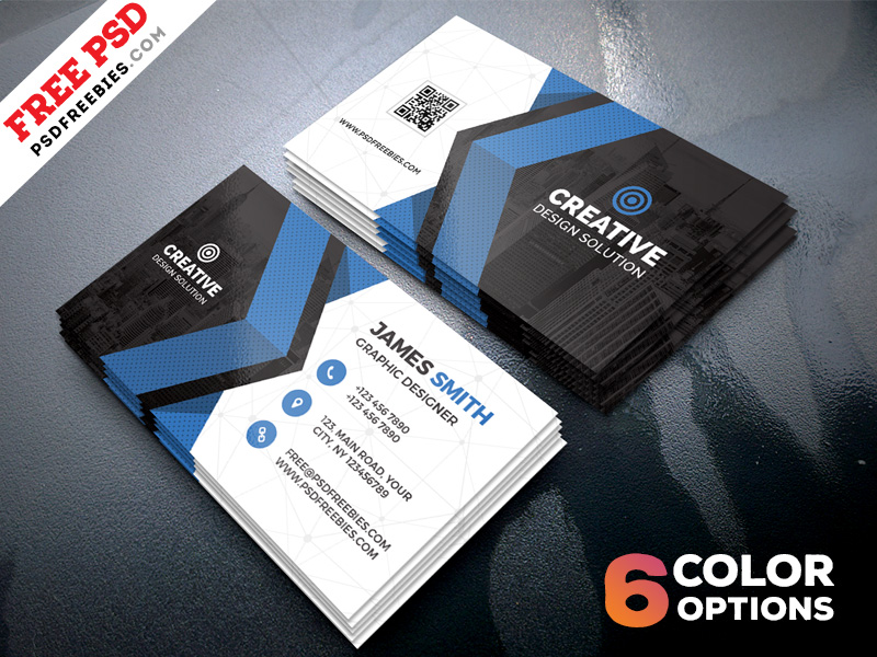 Free Business Cards Templates PSD Bundle